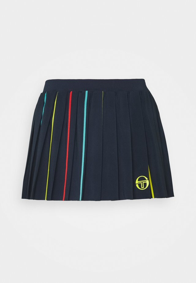 IRIS SKORT - Gonna sportivo - navy/acidlime