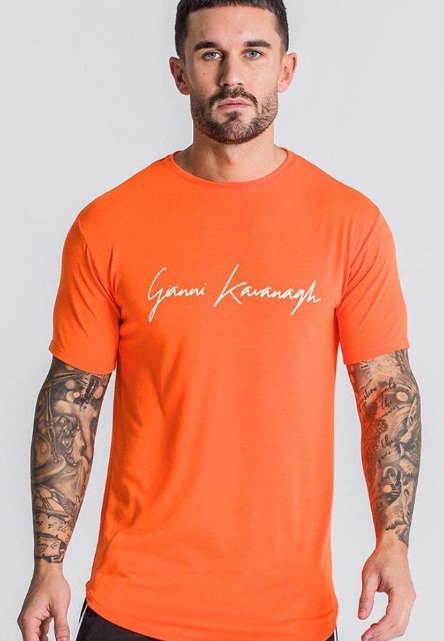 SIGNATURE TEE - T-shirt print - neon orange