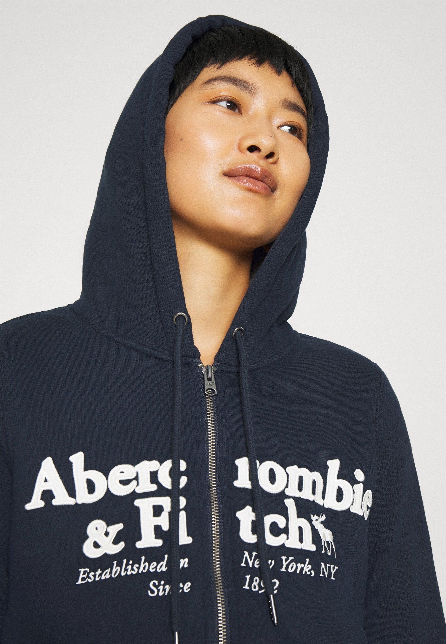 Abercrombie & Fitch FULL ZIP - veste en sweat zippée - navy ATNZ3Vw1
