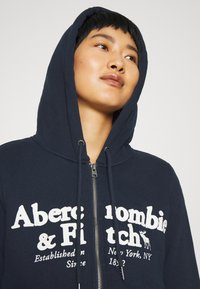 Abercrombie & Fitch - FULL ZIP - Zip-up hoodie - navy