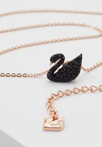Swarovski - ICONIC SWAN PENDANT - Necklace - rosegold-coloured/black - 3