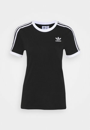 STRIPES TEE - T-shirt z nadrukiem - black