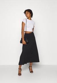 Even&Odd - Basic maxi skirt - A-line skirt - black - 1