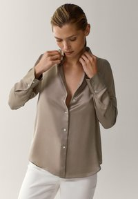Massimo Dutti - Button-down blouse - beige - 0