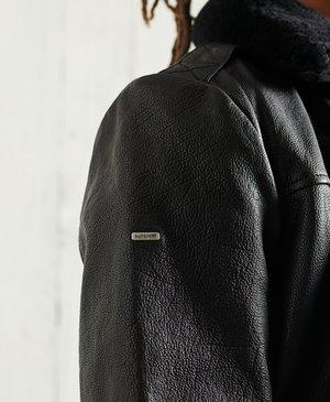 AVIATOR FLIGHT - Leather jacket - black