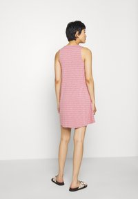 Madewell - HIGHPOINT TANK DRESS IN STRIPE - Jersey dress - weathered berry - 2
