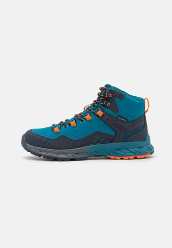 VERVE MID WP - Hiking shoes - navy/sapphire/orange