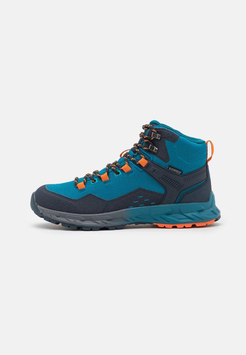 Hi-Tec - VERVE MID WP - Hiking shoes - navy/sapphire/orange