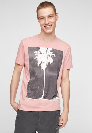 MIT MOTIVPRINT - Print T-shirt - misty rose placed print
