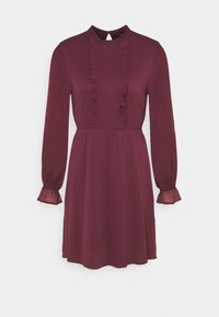 VMMOLLIE FRILL SHORT DRESS - Day dress - fig