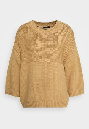 SLFBINNA WIDE O NECK - Jumper - tigers eye