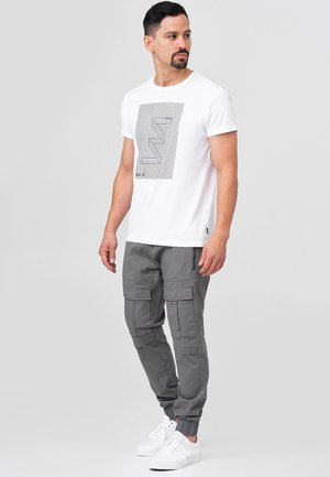 DENNIS - Cargo trousers - pewter