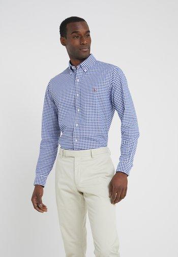 SLIM FIT - Shirt - blue/white
