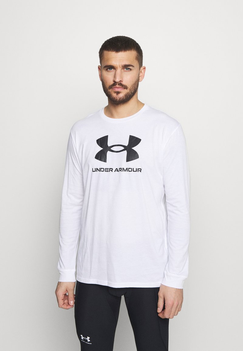 Under Armour - SPORTSTYLE LOGO - Long sleeved top - white