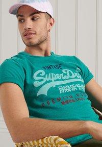 Superdry - Print T-shirt - ocean green marl - 1