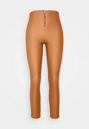 VICOMMIT COATED PLAIN  - Leggings - Trousers - adobe