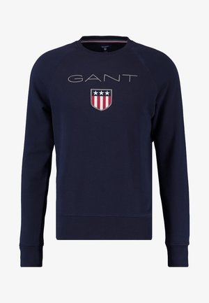 SHIELD C NECK - Sweatshirt - evening blue