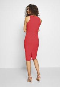 WAL G PETITE - V NECK MIDI DRESS - Sukienka letnia - red - 2