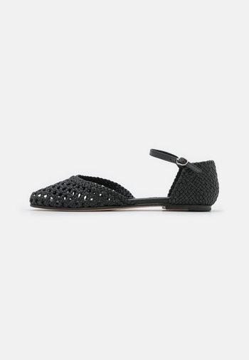 MELLY 9 - Ankle strap ballet pumps - black
