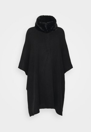 COLLAR WRAP - Poncho - black