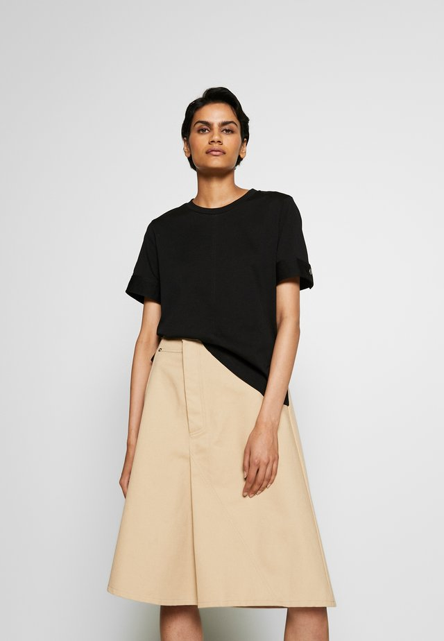 SNAP CUFF TSHIRT - Camiseta básica - black