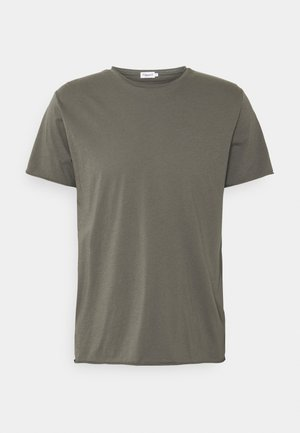 ROLL NECK TEE - Basic T-shirt - green grey