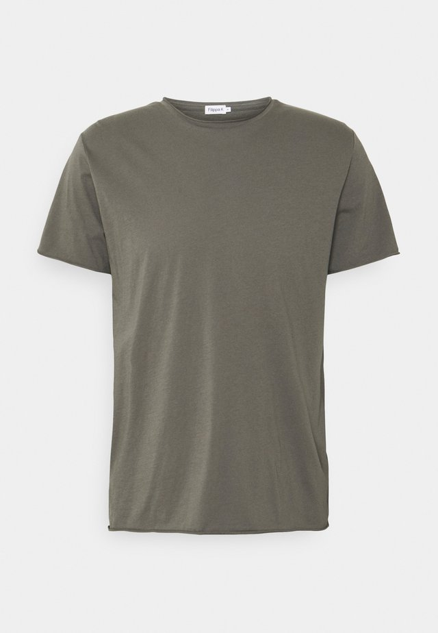 ROLL NECK TEE - T-shirt basique - green grey