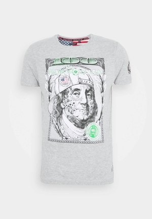 FRANKLIN - Print T-shirt - light grey marl