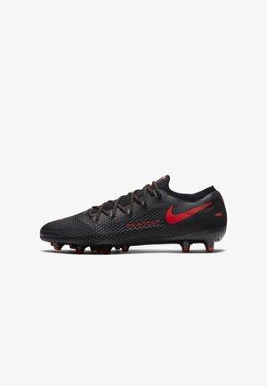 PHANTOM  - Moulded stud football boots - black/dark smoke grey/chile red
