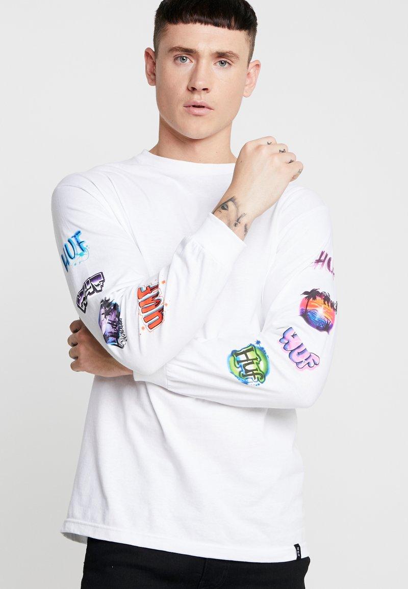 HUF - MEMORIES TEE - Long sleeved top - white