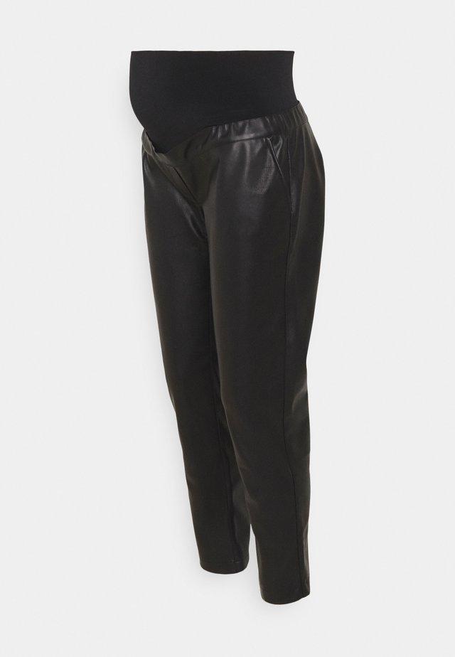 PANT MORBIDO PELLE - Trousers - black
