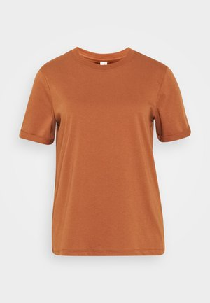 PCRIA FOLD UP TEE - T-shirt - bas - mocha bisque