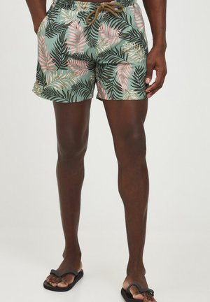 MIT ALLOVER PRINT - Surfshorts - hedge green