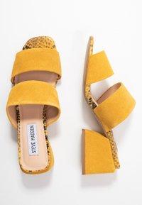 Steve Madden - KELINE - Heeled mules - yellow - 3
