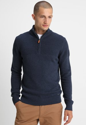Jersey de punto - mottled dark blue