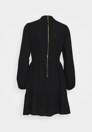 CLOSET HIGH COLLAR MINI DRESS - Day dress - black