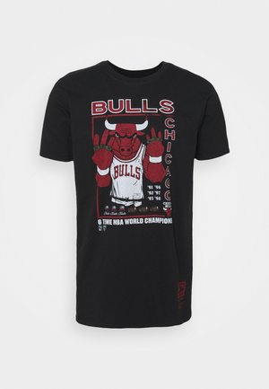 NBA CHICAGO BULLS RINGS TEE - Club wear - black