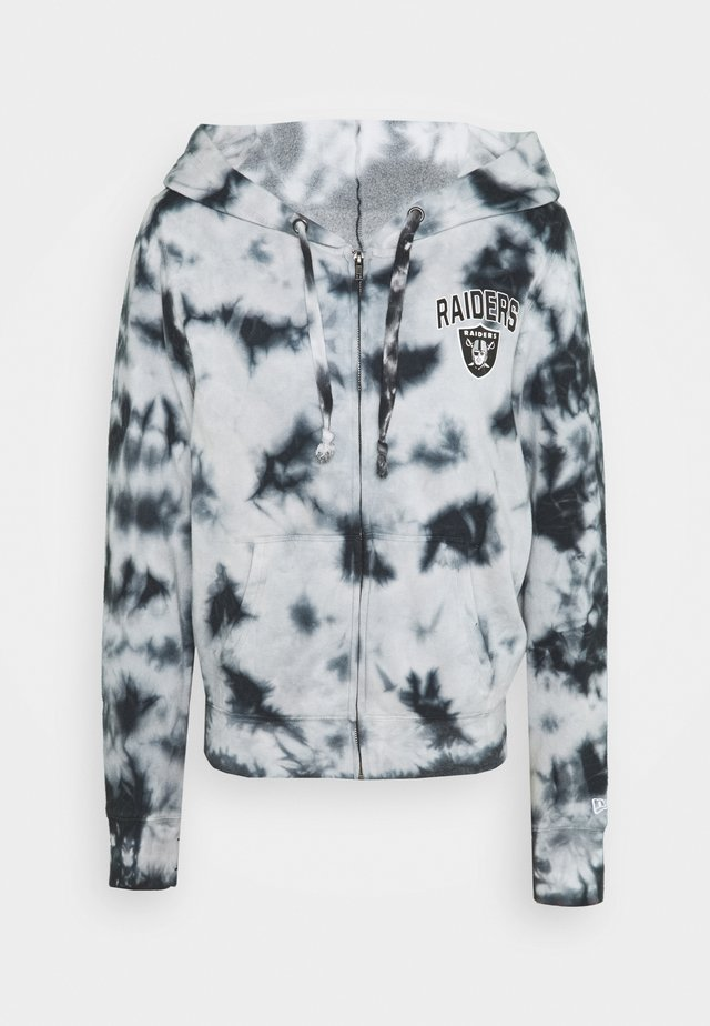 OAKLAND RAIDERS HOODY - Club wear - grey