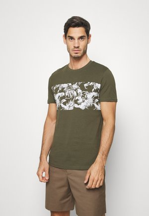 T-shirt con stampa - oliv