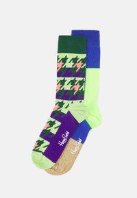 Happy Socks - DOGTOOTH BLOCKED 2 PACK UNISEX - Socks - multi - 0