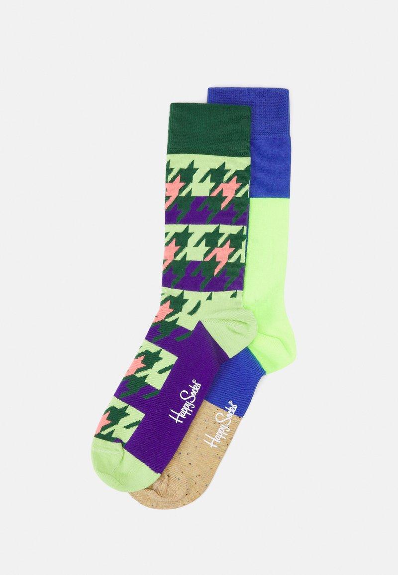 Happy Socks - DOGTOOTH BLOCKED 2 PACK UNISEX - Socks - multi