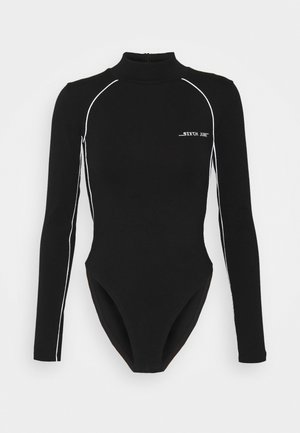 BODY WITH REFLECTIVE PIPING - Long sleeved top - black