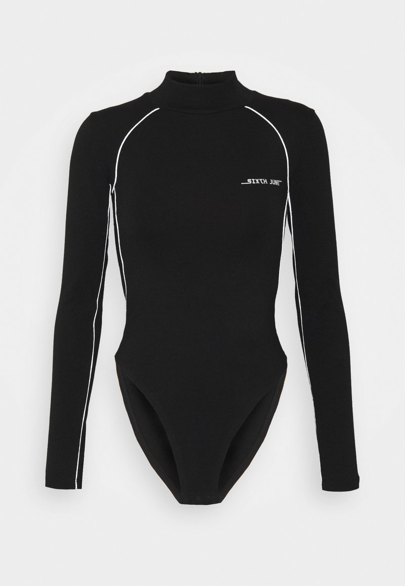 Sixth June - BODY WITH REFLECTIVE PIPING - Long sleeved top - black