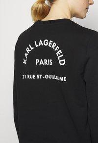 KARL LAGERFELD - ADDRESS LOGO - Sweatshirt - black - 5
