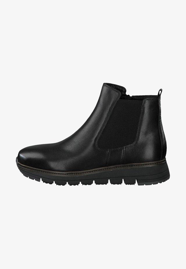 RELAXED FIT - Stövletter - black leather