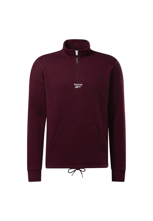 CLASSICS HALF-ZIP SWEATSHIRT - Sweatshirt - burgundy