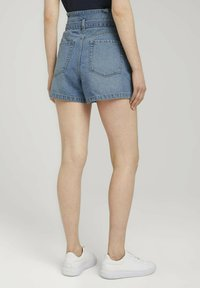TOM TAILOR DENIM - Denim shorts - used light stone blue denim - 4