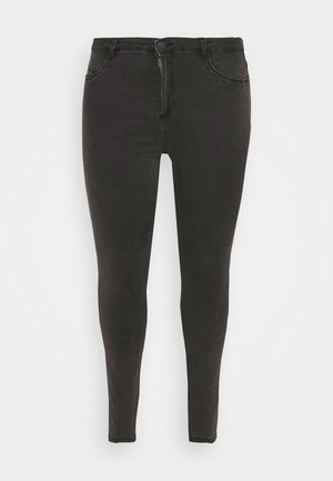 Jeansy Skinny Fit - dark grey denim
