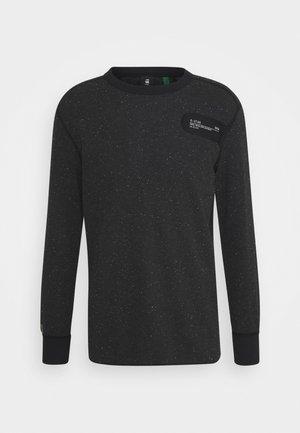 RAW CONSTRUCT - Maglietta a manica lunga - noir heather