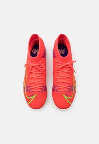 Nike Performance - MERCURIAL 8 ACADEMY IC - Indoor football boots - bright crimson/metallic silver - 3